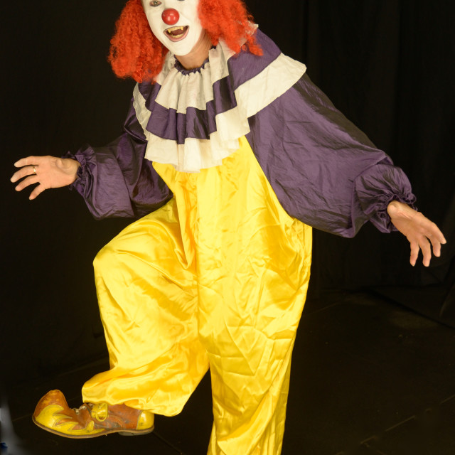 """""""Colourful Clown"""" stock image"""