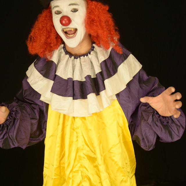 """""""Clowning Around"""" stock image"""
