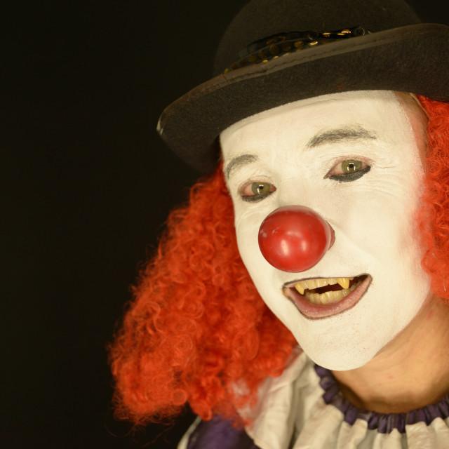 """Clown Head Shot"" stock image"