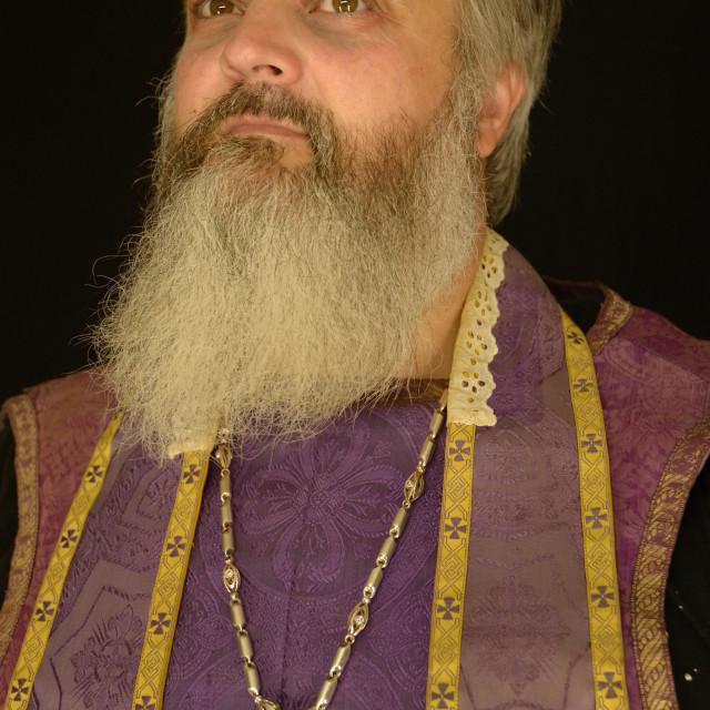 """Bearded Priest"" stock image"