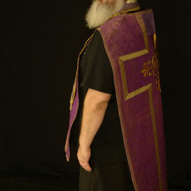 """""""Priest from behind"""" stock image"""