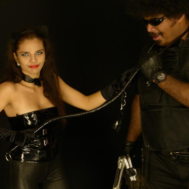 """Couple in Black"" stock image"