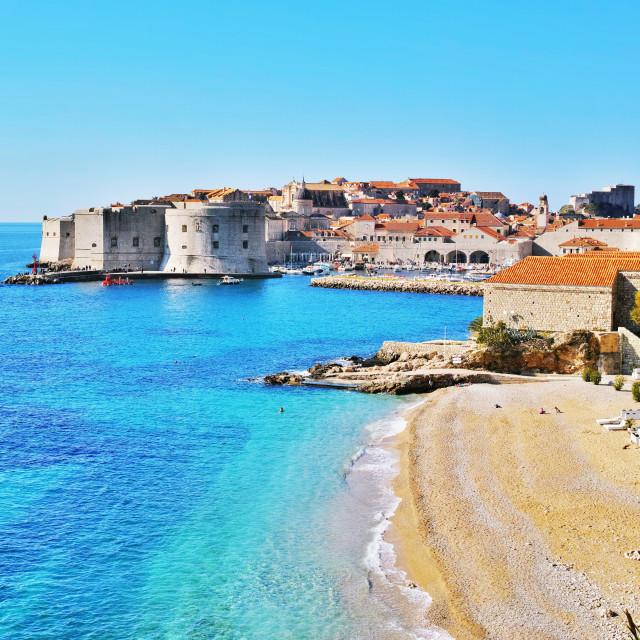"""Beautiful beach in Dubrovnik"" stock image"