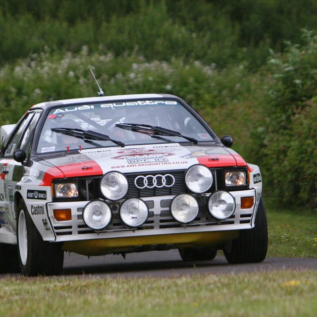 """""""Audi Quattro Motoring at the Manor"""" stock image"""
