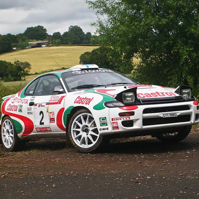 """Toyota Rallying Nicky Grist"" stock image"