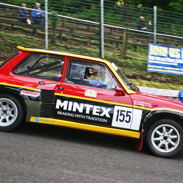 """""""Mintex Rallying Renault 5 Turbo"""" stock image"""