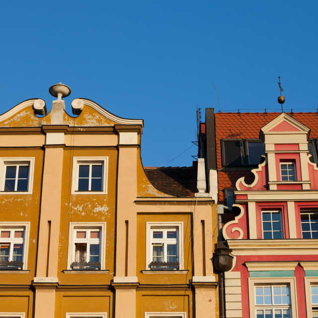 """""""Historic Houses With Gable in Wroclaw"""" stock image"""