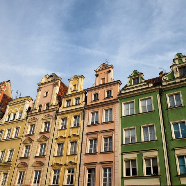 """""""Houses in the Old Town of Wroclaw in Poland"""" stock image"""