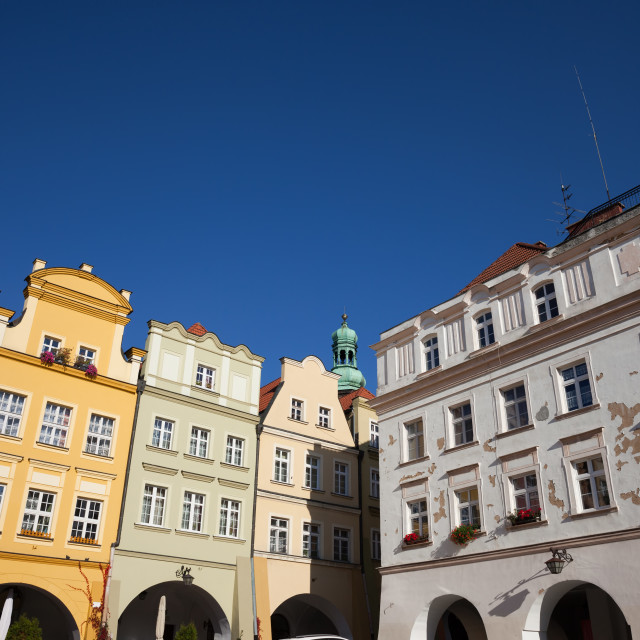 """""""Old Town Houses in City of Jelenia Gora"""" stock image"""