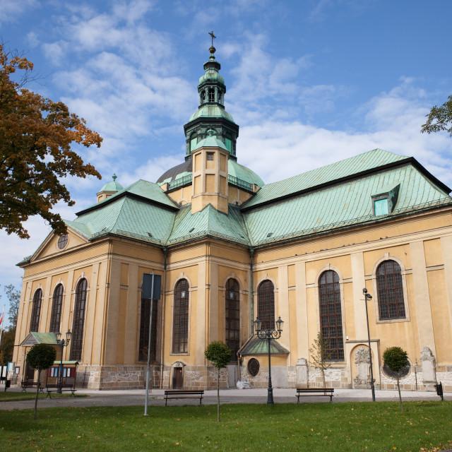 """Holy Cross Church in Jelenia Gora"" stock image"