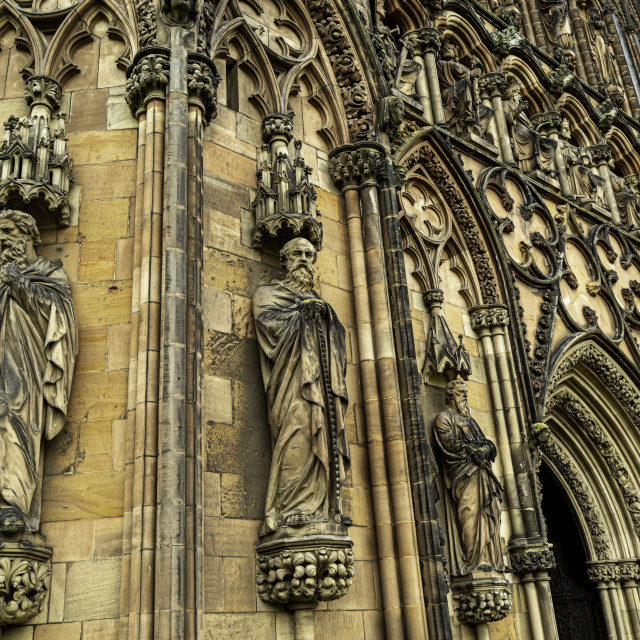 """""""Statues Lichfield Cathedral"""" stock image"""