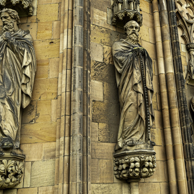 """""""Saints Lichfield Cathedral"""" stock image"""