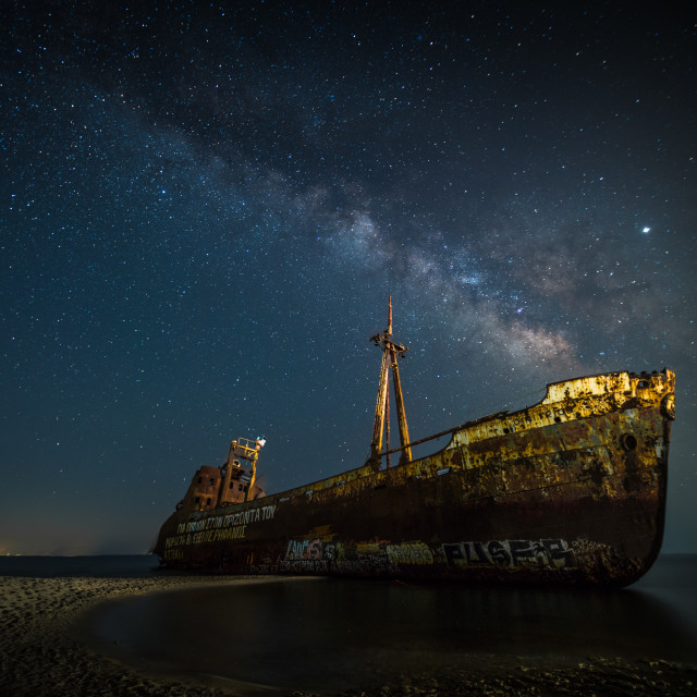 """Dimitrios Shipwreck"" stock image"