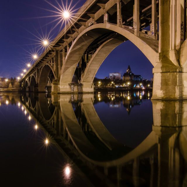 """Blue Hour Broadway Bridge"" stock image"