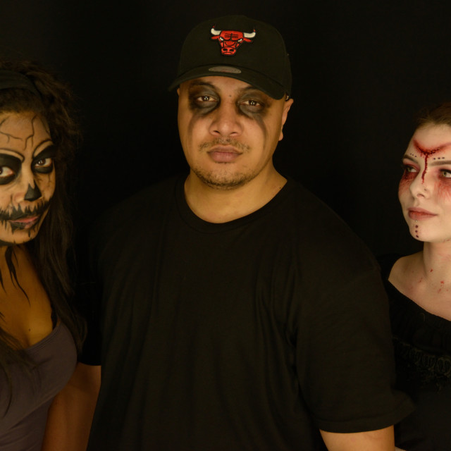 """Three with Face Painting"" stock image"