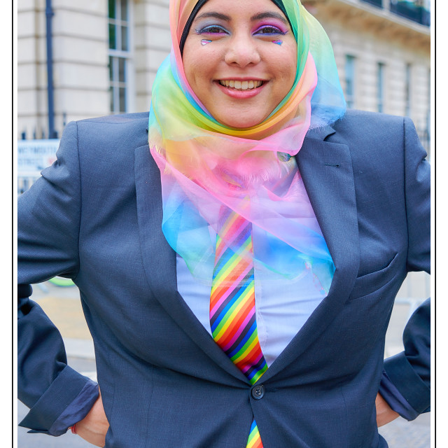 """Pride London 2019 Muslima Portrait"" stock image"