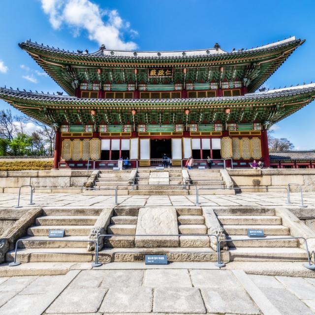 """""""Cheandokgeung Palace"""" stock image"""