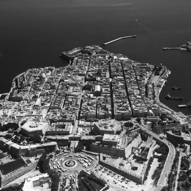 """""""Valletta from the Air"""" stock image"""