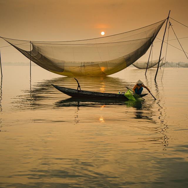 """Hoi An Vietnam Sunrise"" stock image"
