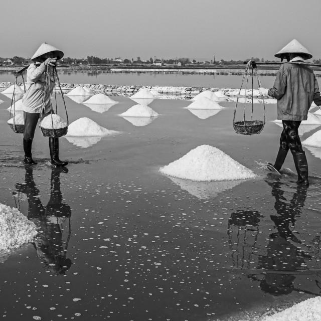 """""""Salt Worker #2"""" stock image"""