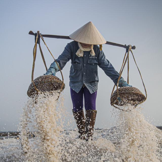 """""""Salt Worker #1"""" stock image"""