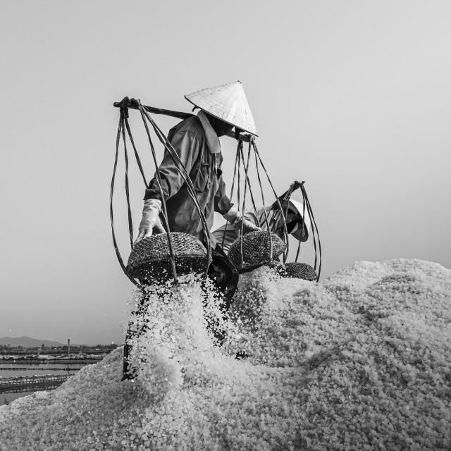 """""""Salt Worker#4"""" stock image"""
