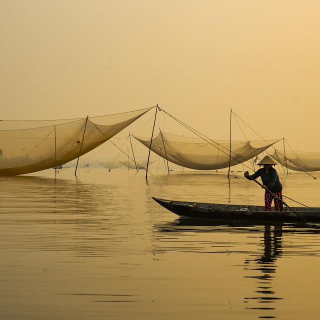 """Hoi An, Vietnam Fishing Nets"" stock image"