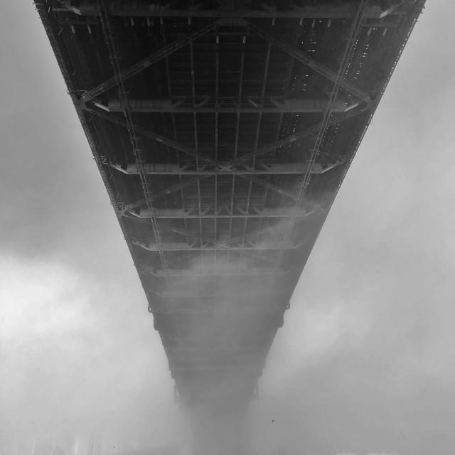 """Fog on Sydney harbour"" stock image"