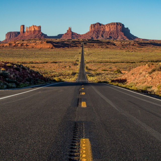 """""""Highway 163 / Forest Gump Point"""" stock image"""