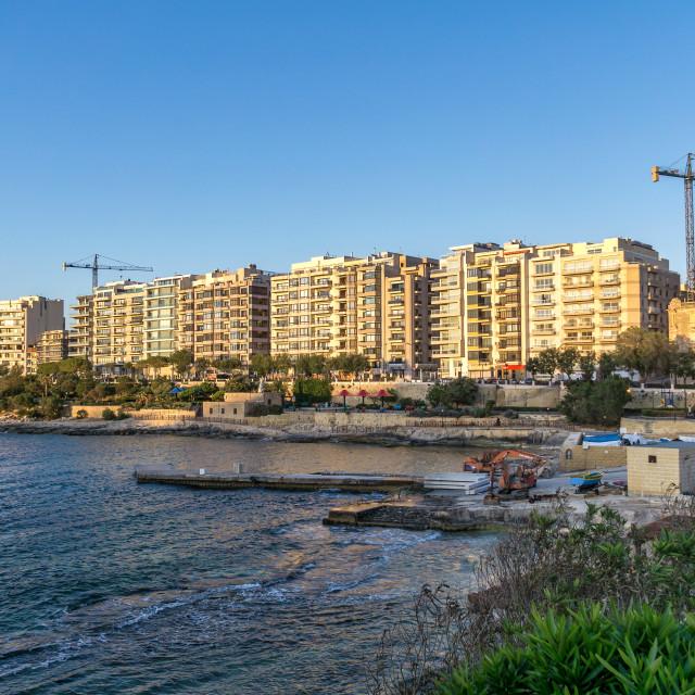 """Sliema, Malta"" stock image"