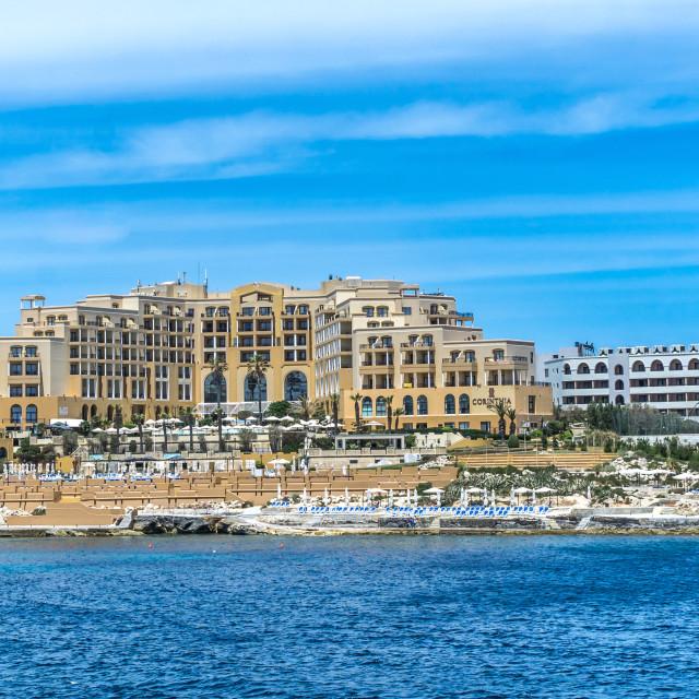 """""""St. Julian's, Malta"""" stock image"""