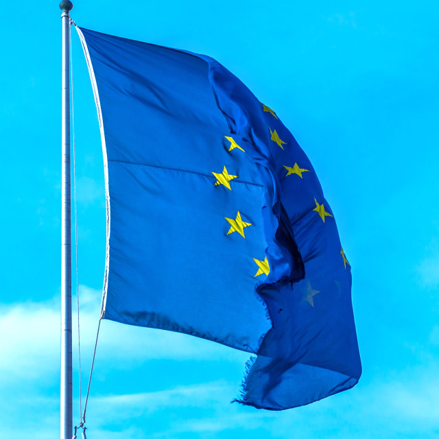 """European Union flag"" stock image"