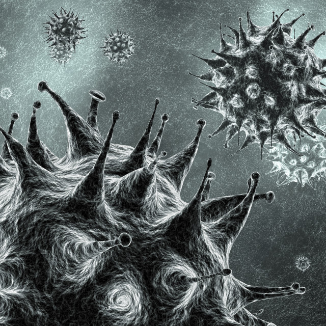 """Virus particles, illustration"" stock image"