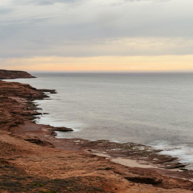 """""""Dusk on Australia's West Coast"""" stock image"""