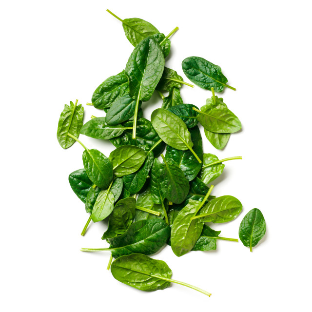 """""""Heap of baby spinach isolated"""" stock image"""