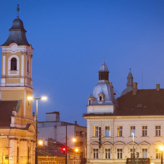"""Lutheran Church in Cluj-Napoca"" stock image"