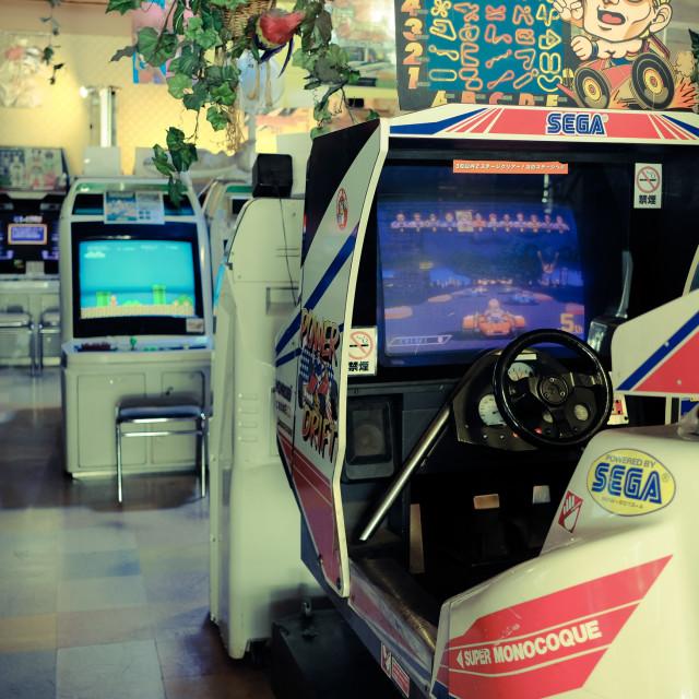"""""""Mikado Tokyo arcade"""" stock image"""