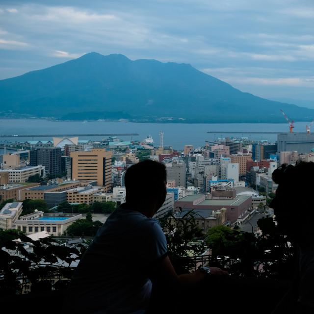"""Sakurajima Kagoshima Tourists"" stock image"