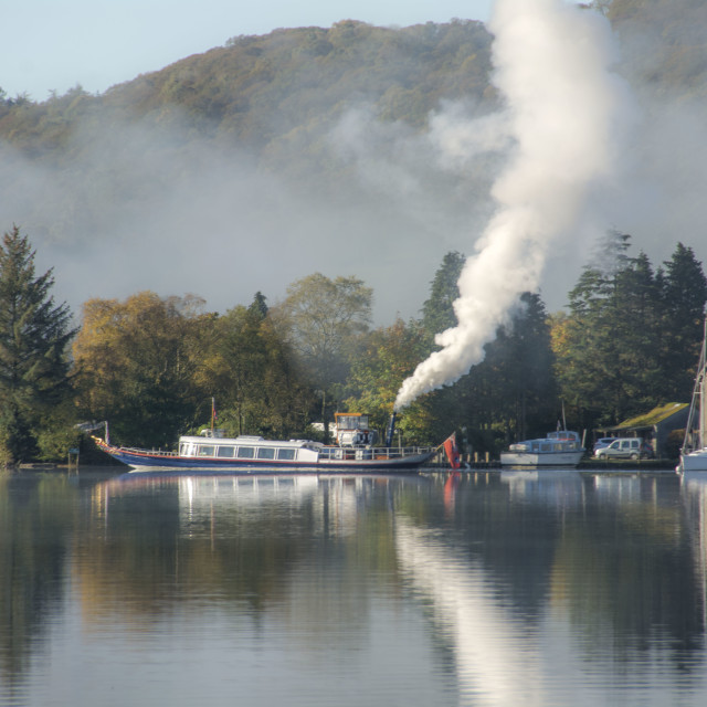 """The Gondola, Coniston"" stock image"