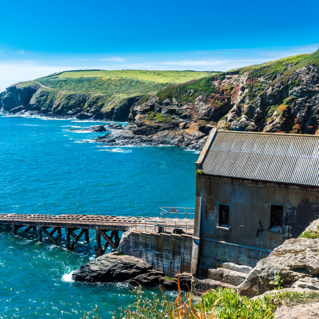 """Lizard Point Lifeboat station"" stock image"