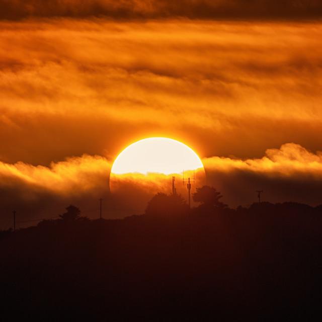 """Sunset Over Trinidad Head, Trinidad, California, USA"" stock image"