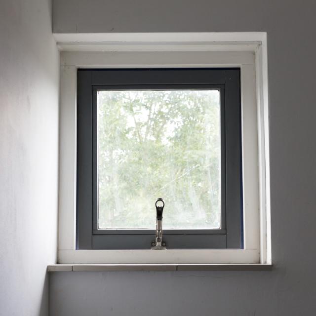 """Small open window"" stock image"