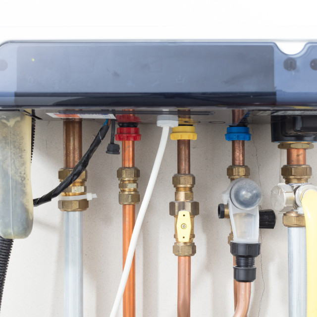 """""""Home`s heating system"""" stock image"""