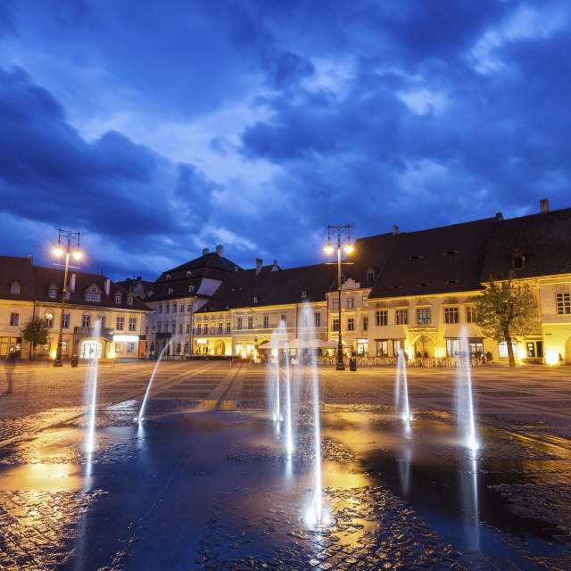 """""""The Great Square in Sibiu"""" stock image"""