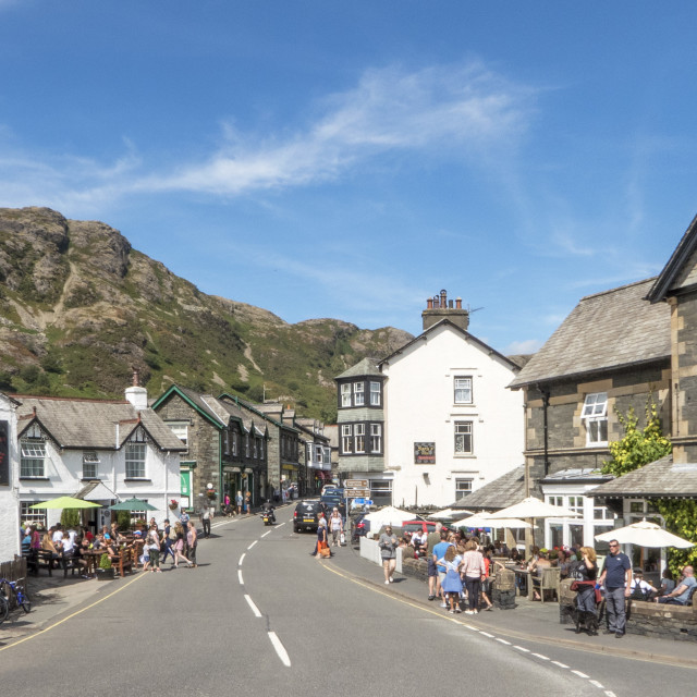 """Coniston Village"" stock image"