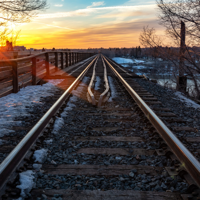 """Sunset Tracks"" stock image"