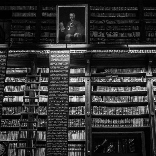 """Bibliotheca, Malta"" stock image"