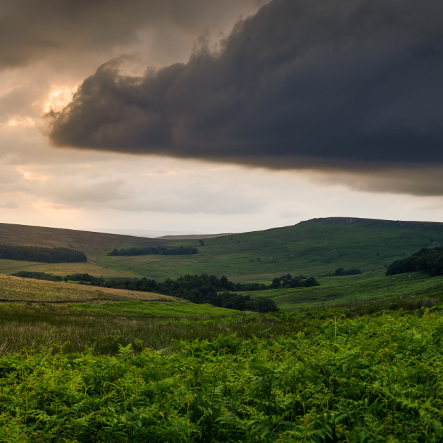 """Storm's a brewin', The Peak District"" stock image"