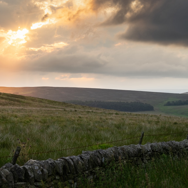 """Crack in the Universe, The Peak District"" stock image"