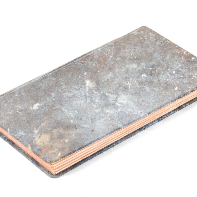 """""""Closed old metal book isolated"""" stock image"""